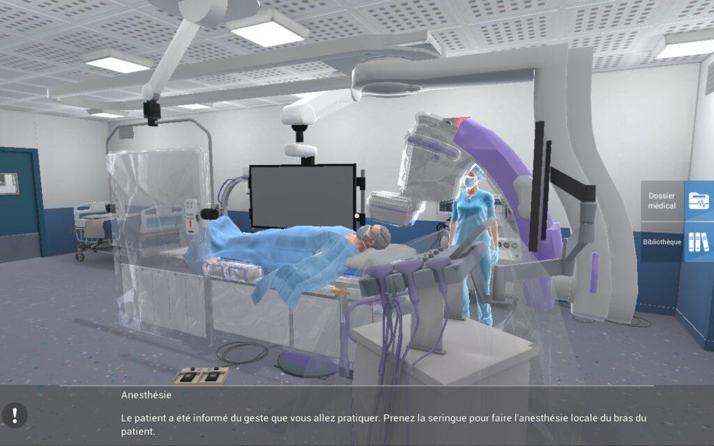 la simulation numérique permet de mettre les professionel.le.s en situation